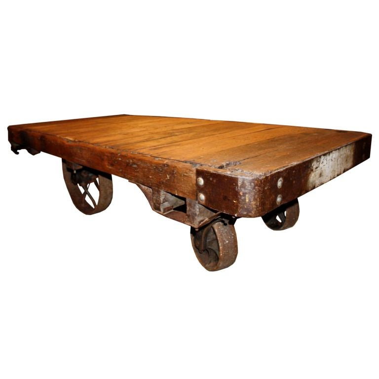 Factory Cart Coffee Table At 1stdibs
