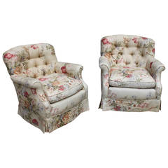Pair of Vintage Frame Lounge Club Chairs