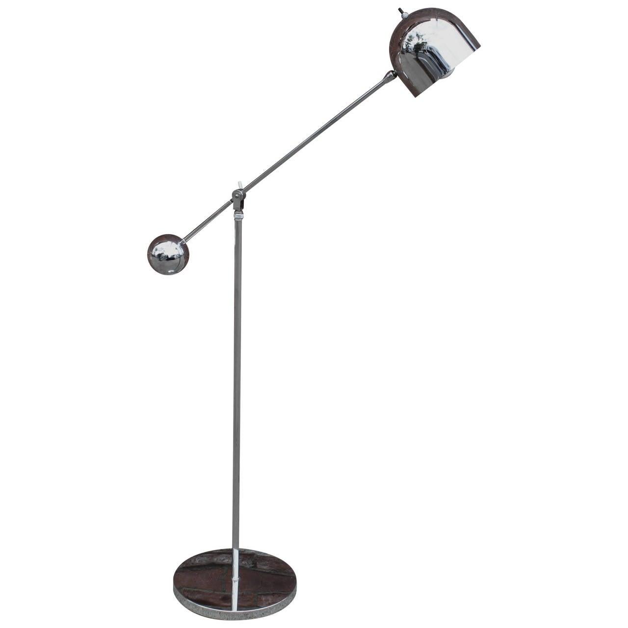 Chrome floor lamp modern at 1stdibs for Roosevelt 1 light floor lamp