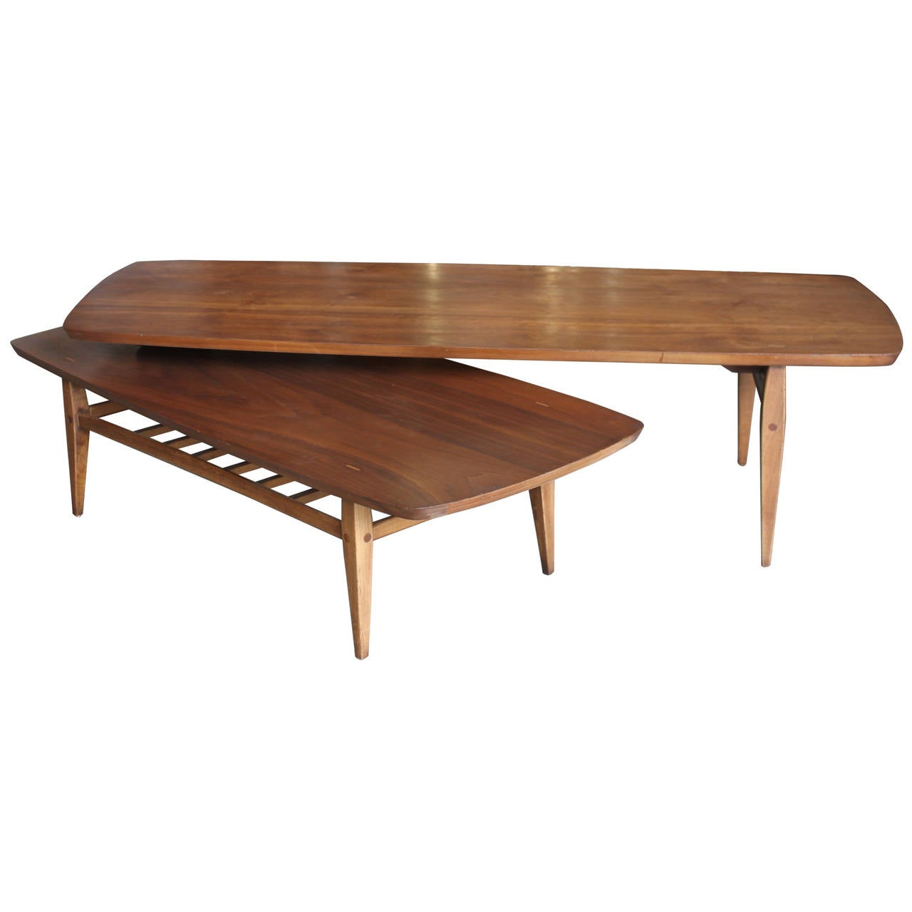 Two Tier Swivel Joint Coffee Table By Lane At 1stdibs