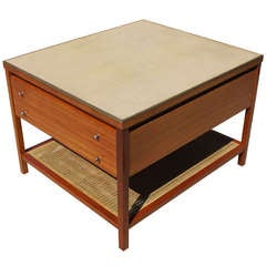 Paul McCobb for Calvin Leather Top Occasional Table