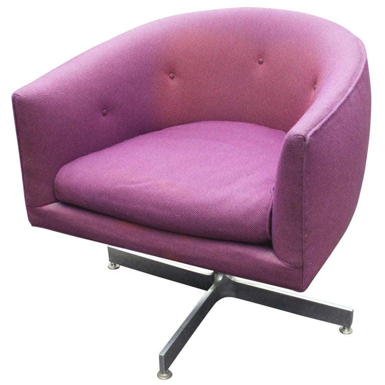 Purple Swivel Chair Thayer Coggin Tilt Swivel Tub Chair