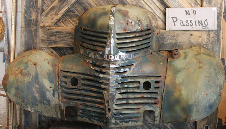 Great Old Dodge Truck Grill with Fenders at 1stdibs