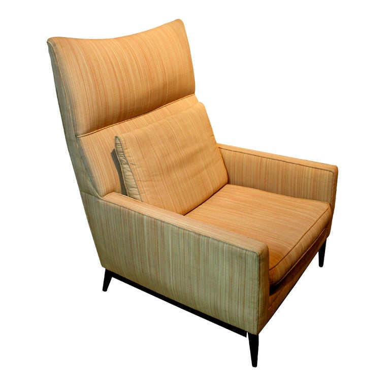 Paul McCobb For Directional High Back Lounge Chair At 1stdibs