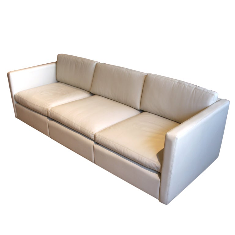Charles Pfister For Knoll Leather Sofa At 1stdibs