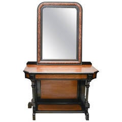 English Aesthetic Movement Console and Mirror