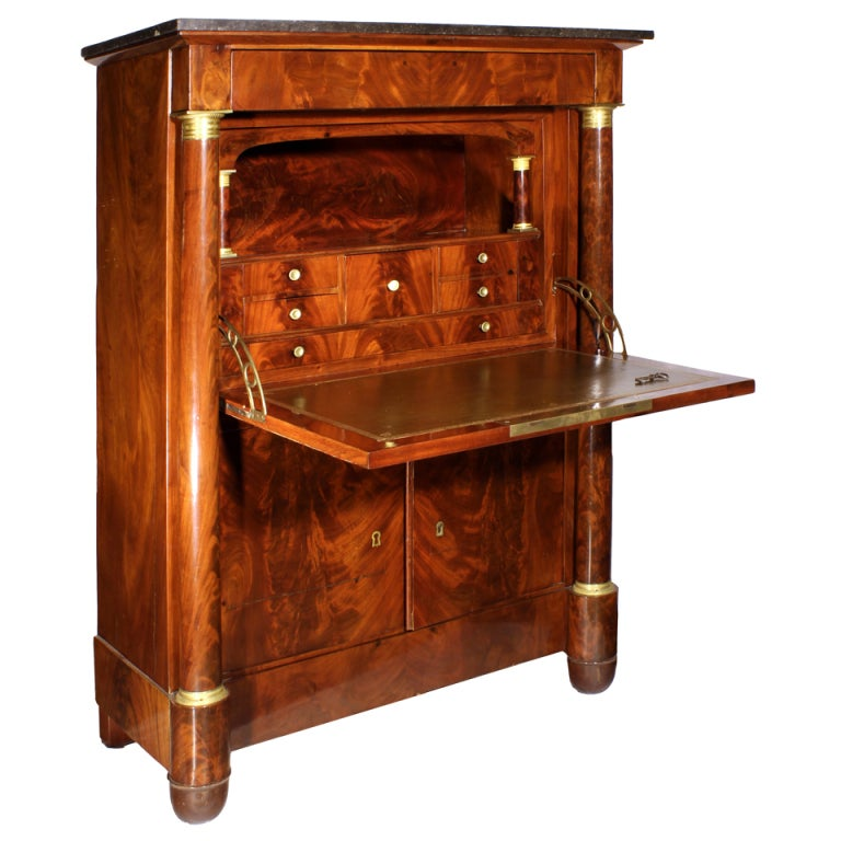 empire period secretaire a abattant at 1stdibs. Black Bedroom Furniture Sets. Home Design Ideas