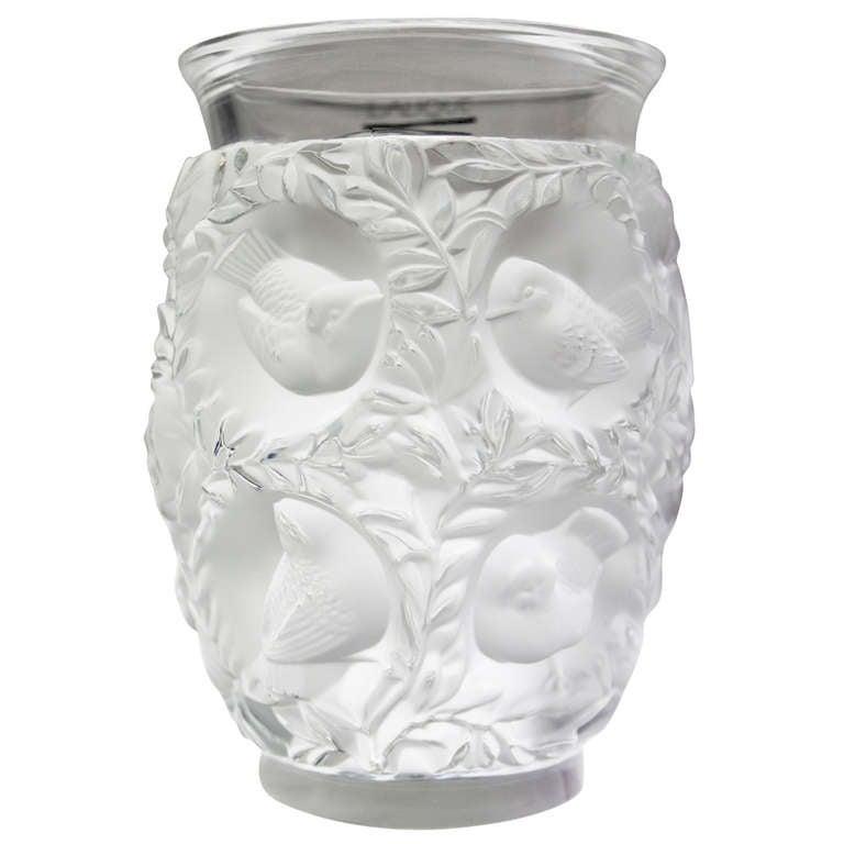 Lalique Crystal Vase Bagatelle Of Love Birds At 1stdibs
