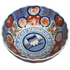 Imari Porcelain Bowl on a Gilded Bronze Base