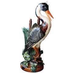 """Barbotine """"Heron"""" Vase"""