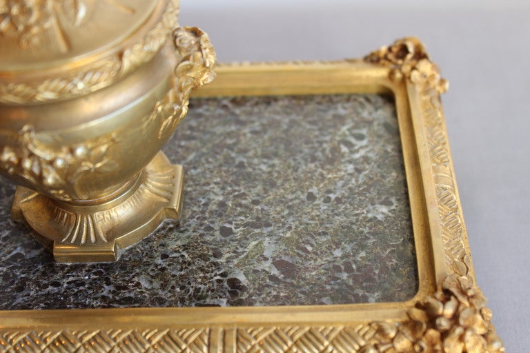 French Bronze Inkwell by