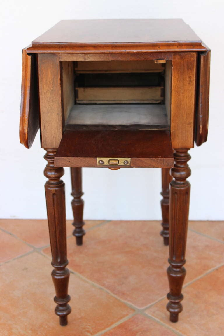 Louis philippe period work table and nightstand for sale for Table ronde louis philippe