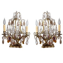 Pair of French Table Top Chandeliers