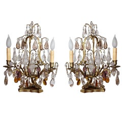 Pair of French Tabletop Chandeliers