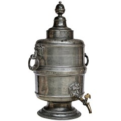 Museum Quality Pewter Table Fountain