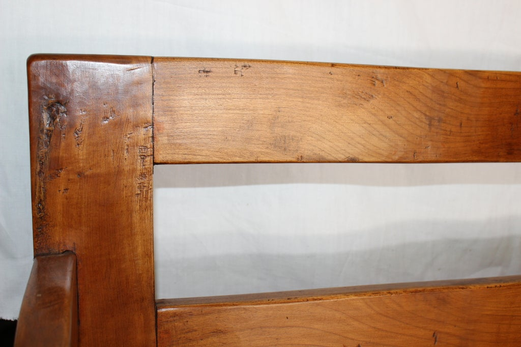 Wooden settee bench antique french cherry wood settee antique bench - French Chapel Bench At 1stdibs