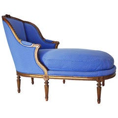 19th Century Duchesse or Chaise Longue in Louis XVI Style