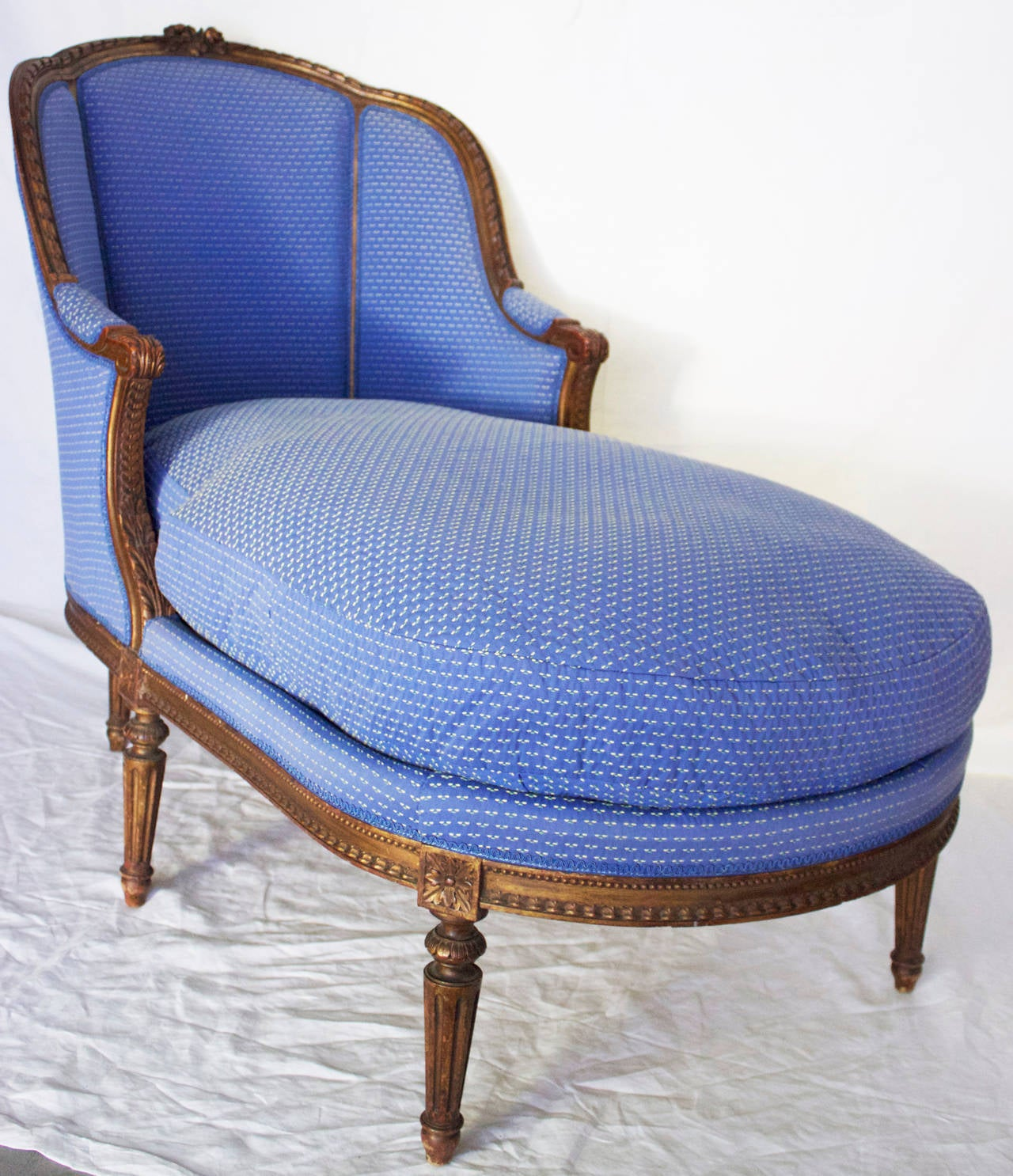 19th century duchesse or chaise longue in louis xvi style for Chaise louis xvi
