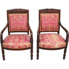 Pair of French Restauration Period Armchairs