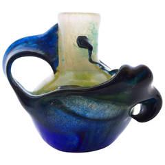 """""""La Mer"""" Blown Glass Vase by Patrick Lepage"""