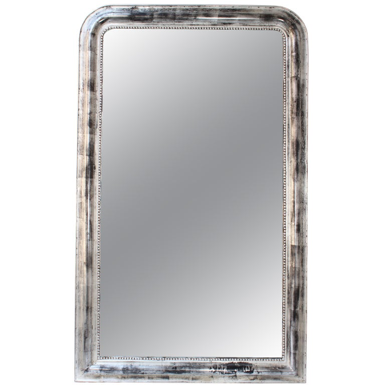 French Louis Philippe Silvered Mirror
