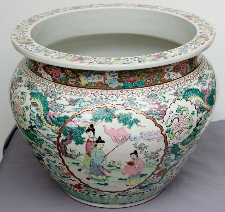 Antique chinese famille rose fish bowl or jardiniere at for Fish bowl price