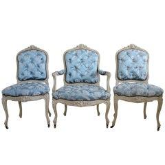 Set of 3 Napoleon III Period Chairs