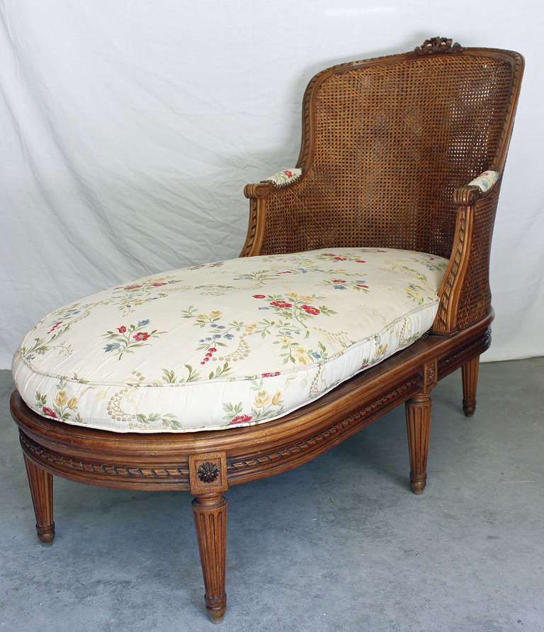 louis xvi style caned chaise lounge at 1stdibs
