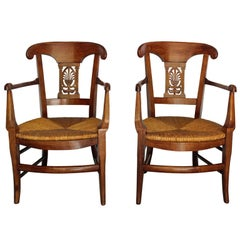Late 18th Century Pair of Provencal Armchairs