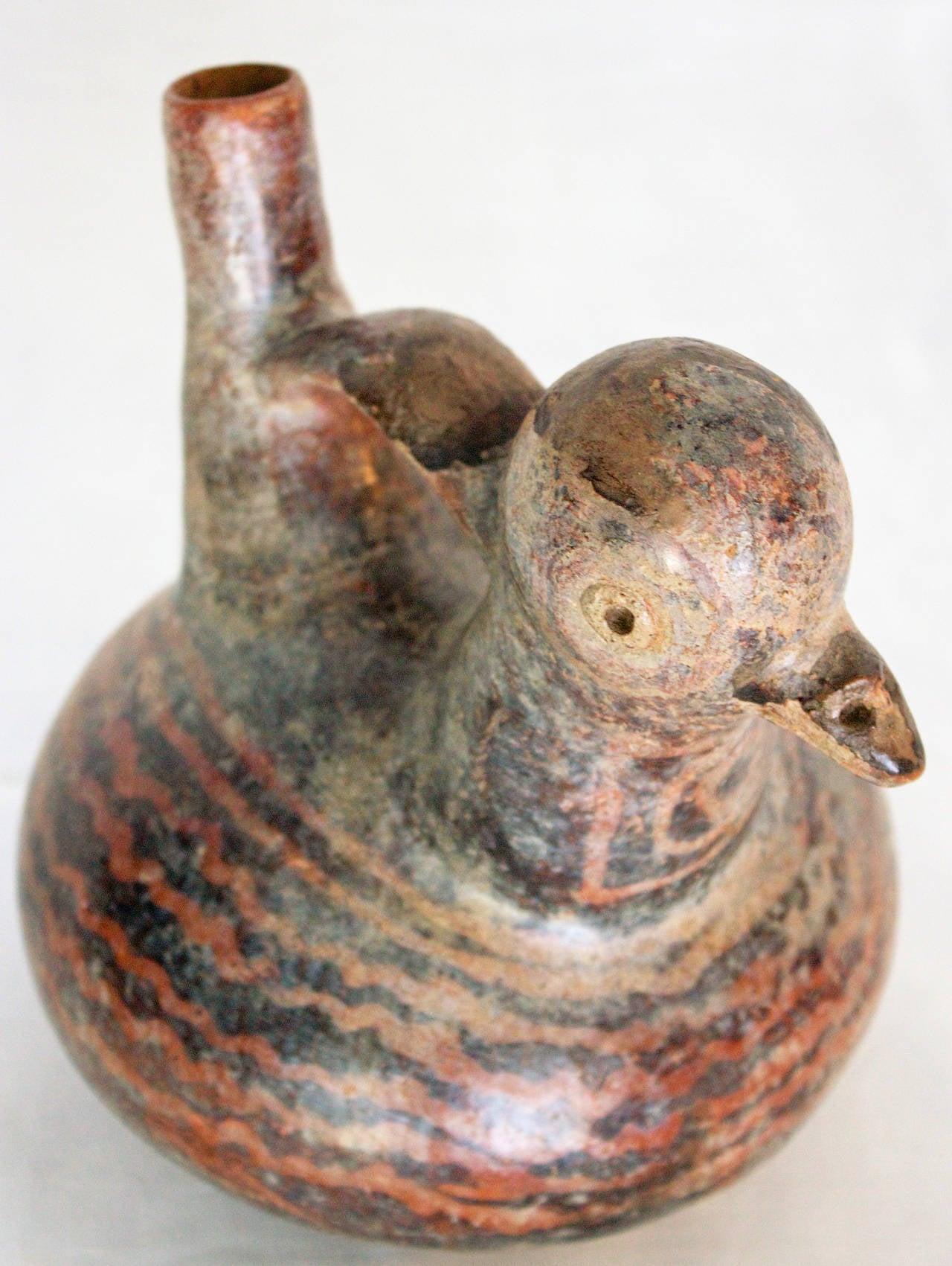 F Duckling Vessel Vicus Peruvian Ceramic...
