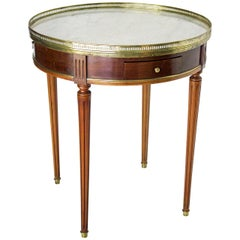 French 19th Century Louis XVI Style Mahogany Bouillotte Table