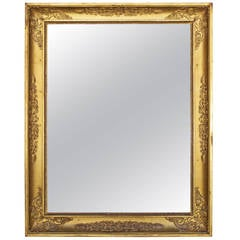 Napoleon Bonaparte Period Mirror in Gilded Wood