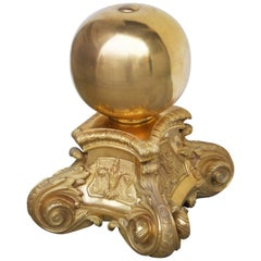French Louis XVI St. Decoration in Gilt Bronze