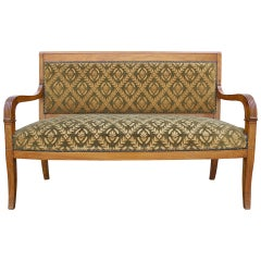 Small French Settee in Charles X Style