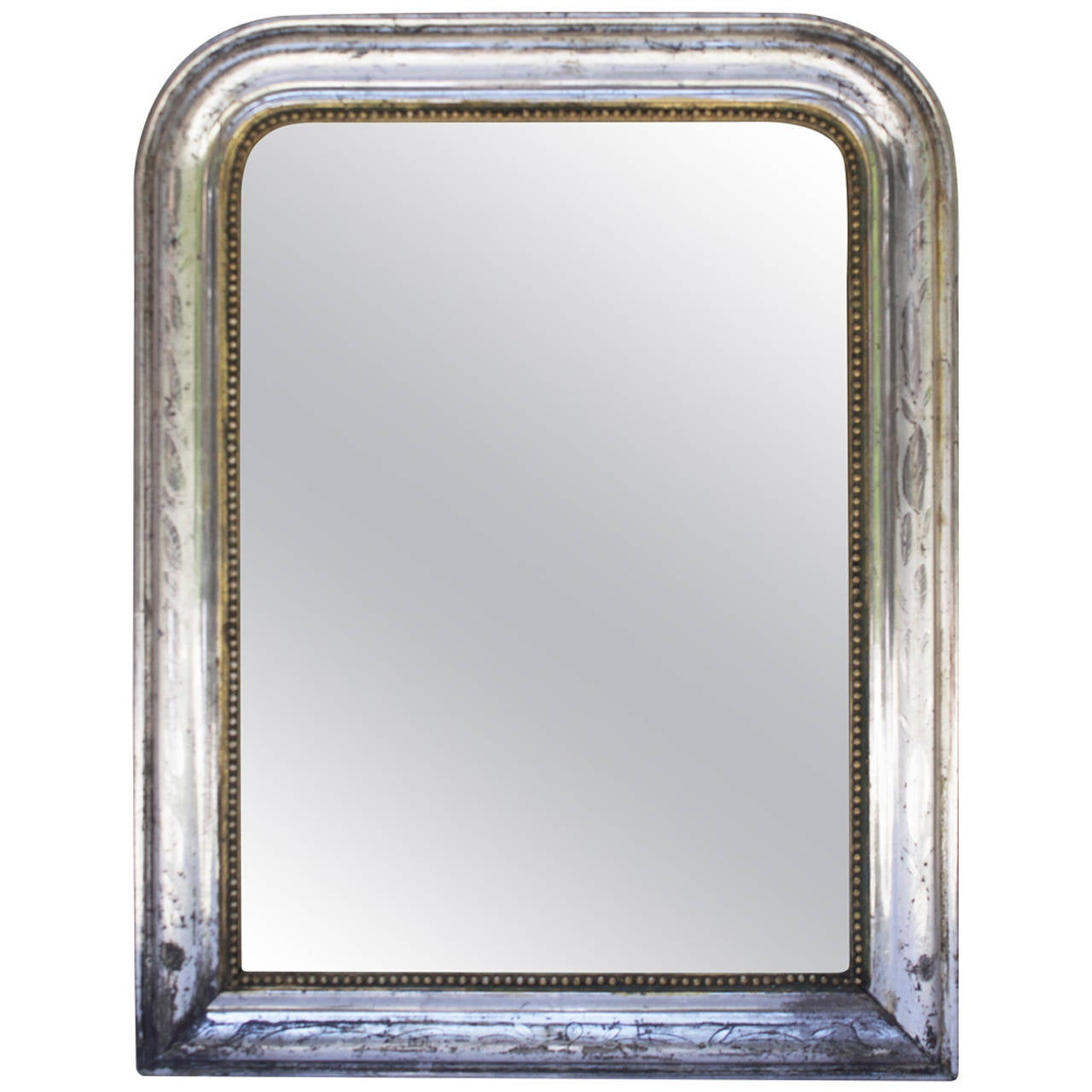 Louis philippe period silver gilt mirror at 1stdibs for What is a gilt mirror