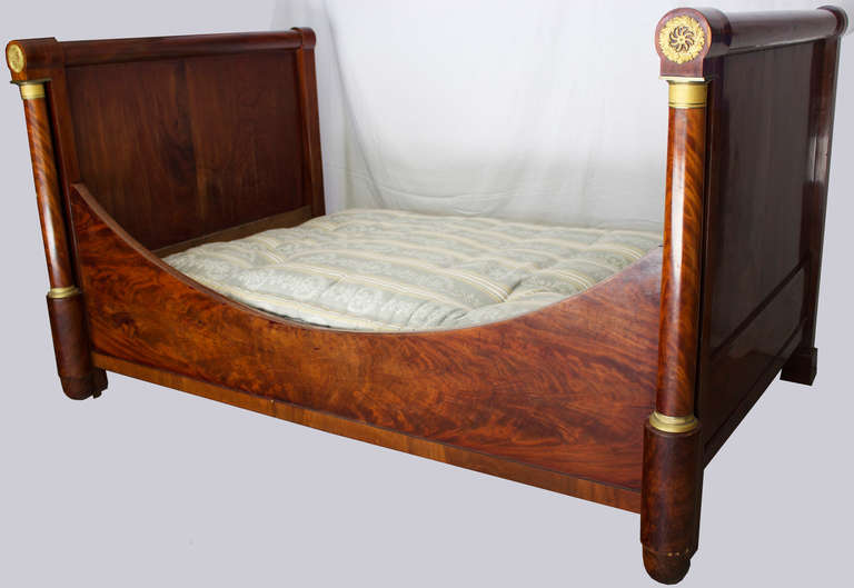 first empire period lit bateau daybed at 1stdibs. Black Bedroom Furniture Sets. Home Design Ideas
