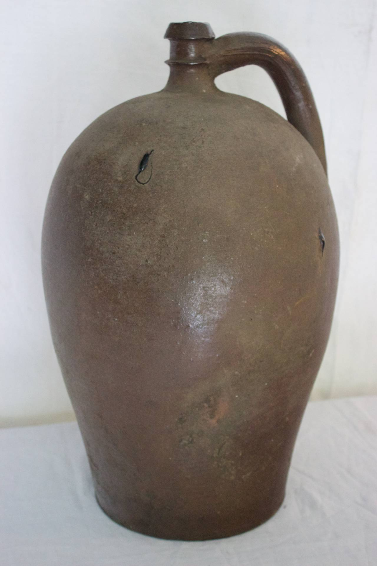 Antique Normandy Stoneware Jar For Calvados For Sale At