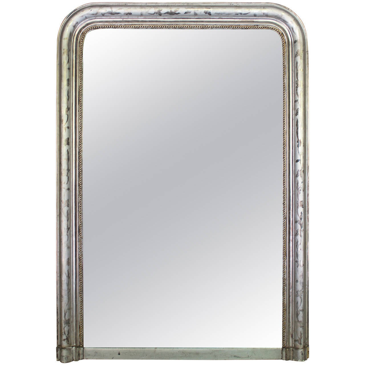 Louis philippe period silver gilt mantel mirror at 1stdibs for Mantel mirrors