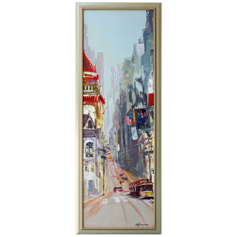 San Francisco Painting by Kerbiriou from Pont-Aven School For Sale