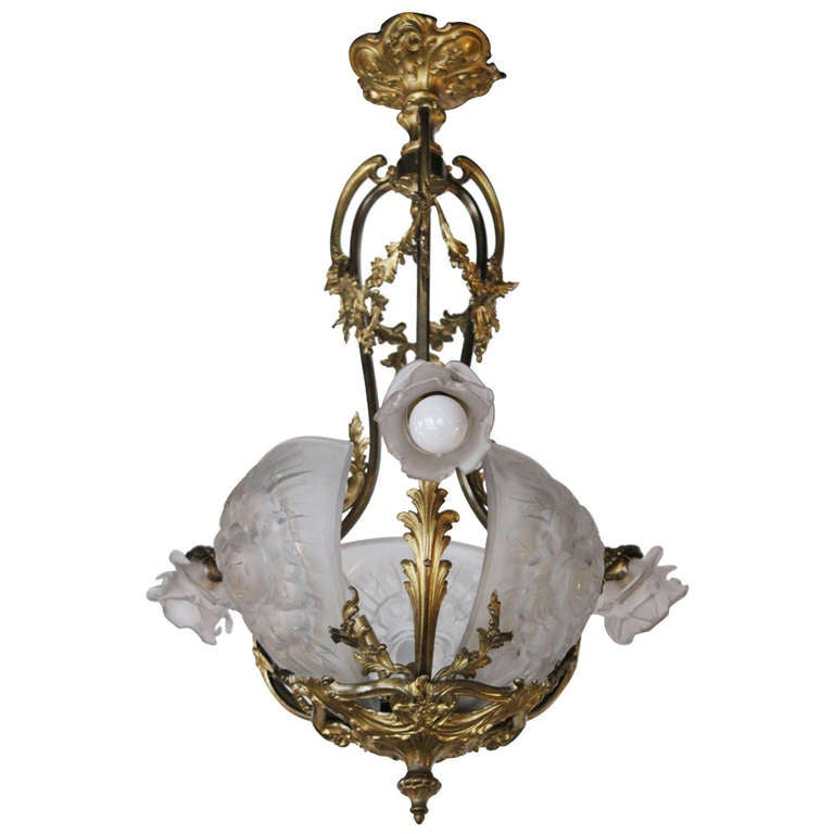 French art nouveau chandelier at 1stdibs for Chandelier art nouveau