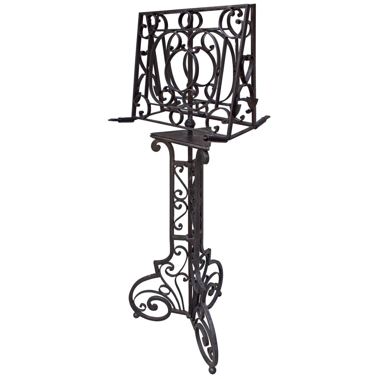French Early 18th Century Forged Iron Religious Lectern