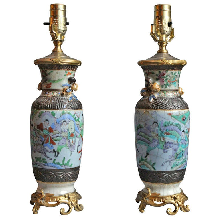 Pair of Japanese Lamps