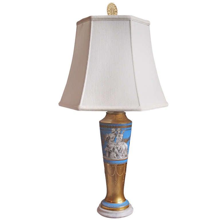 Fine Porcelain Table Lamp At 1stdibs