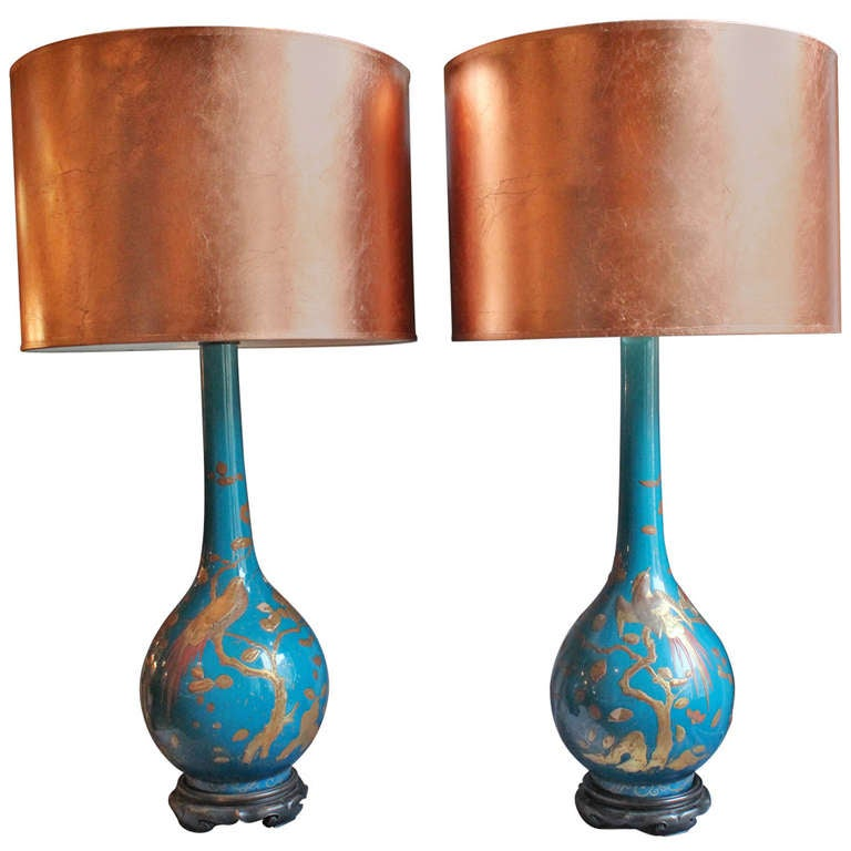 Pair of Aesthetic Movement Lamps