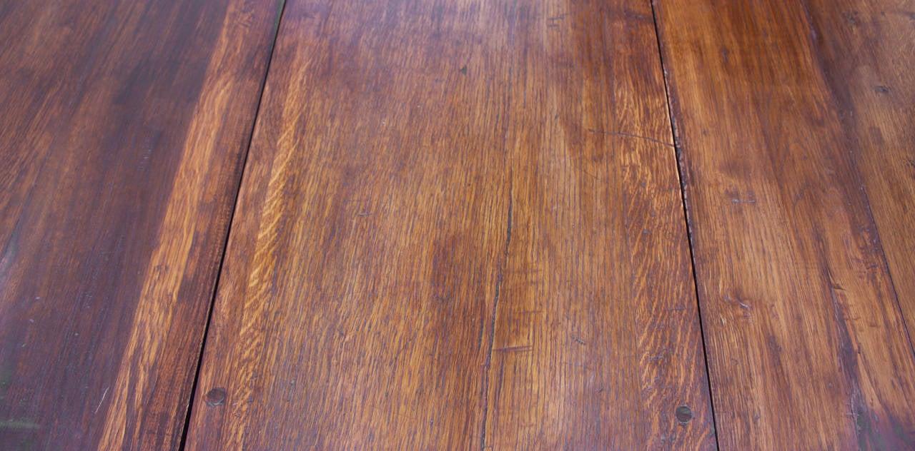Hand-Crafted 18th Century Oak Gateleg Table