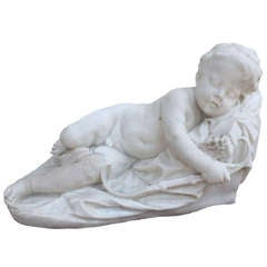 """Love Asleep"" Marble given by  Napoleon Bonaparte to Princess Elisa Bacciochi"