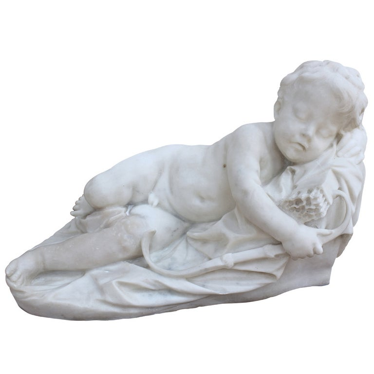 """Love Asleep"" Marble given by  Napoleon Bonaparte to Princess Elisa Bacciochi For Sale"
