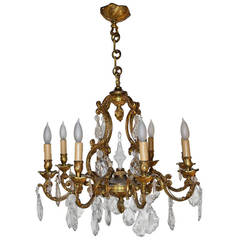 Late 19th Century French Louis XV Style Eight-Light Chandelier