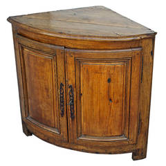End of 17th Century French Country Corner Cabinet