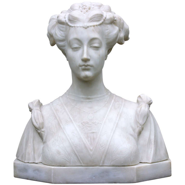 Hand Carved Italian Marble Bust For Sale At 1stdibs